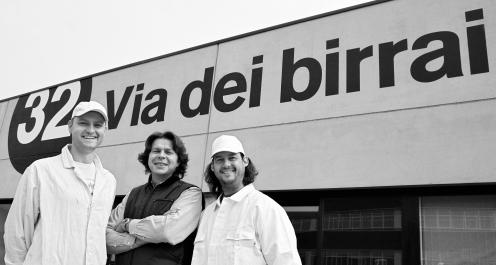 Fabiano Toffoli, Loreno Michielin, Alessandro Toffoli, 32 Via dei Birrai, artisanal beer