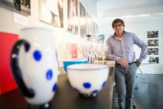 Federico de Majo, Zafferano Italia, tasting glasses